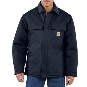 NWOT Carhartt Navy Duck Arctic Quilt Lined Coat L
